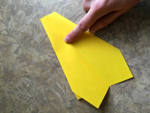 Best paper airplane ever, wing fold