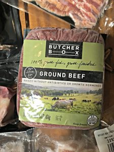 ButcherBox unboxing ground beef