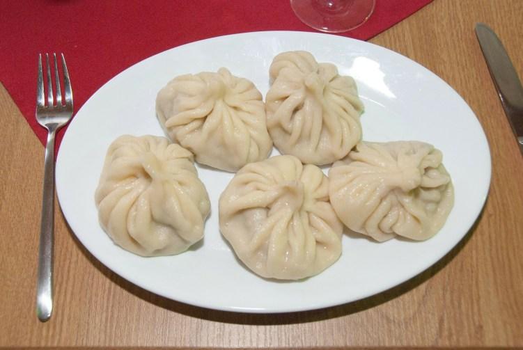 Khinkali, meat dumplings, Tbilisi
