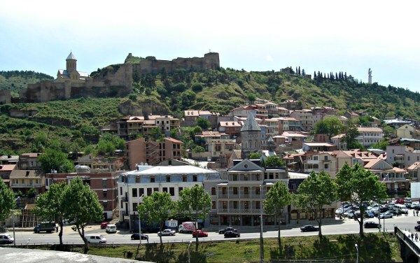 Narikala Fortress and the Mother of Georgia overlooking Tbilisi