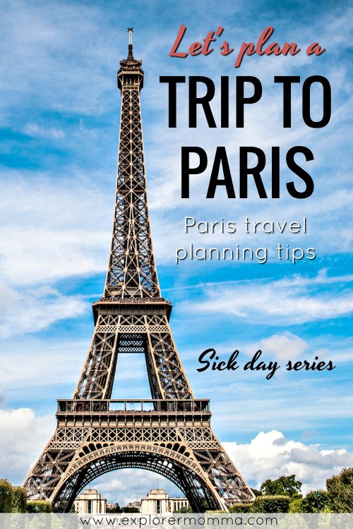 Let's plan a trip to Paris, Eiffel Tower pin