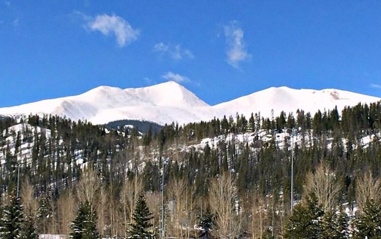 Breckenridge sunny day, snowy mountain