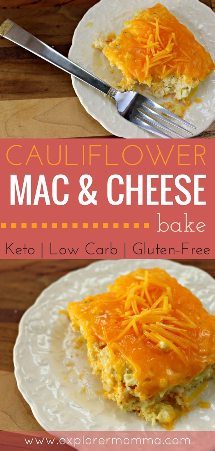 Cauliflower mac & cheese bake