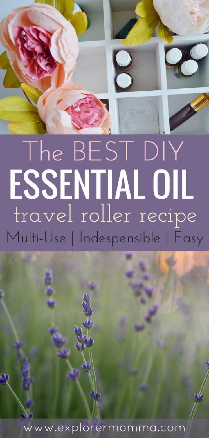DIY Essential Oil travel roller recipe