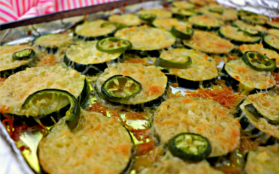 Easy low carb grilled garlic parmesan zucchini