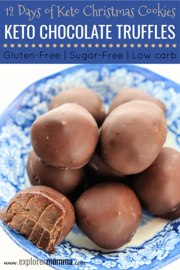 Craving chocolate? Holiday keto chocolate truffles are the perfect gluten-free, low carb, sugar-free treat for any special occasion. #sugarfreetruffles #ketorecipes