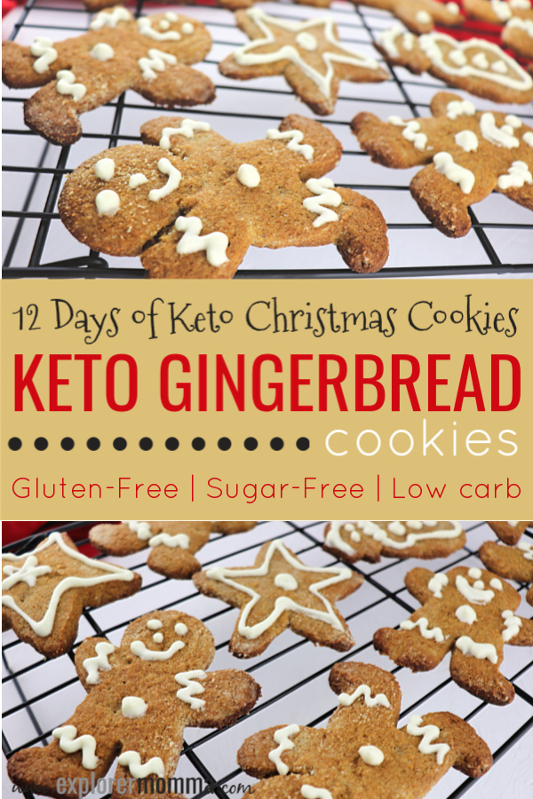 Keto Gingerbread Cookies | The classic low carb Christmas cookie, gluten-free and sugar free. Delicious ginger taste and fun for kids. #lowcarbrecipes #ketocookies