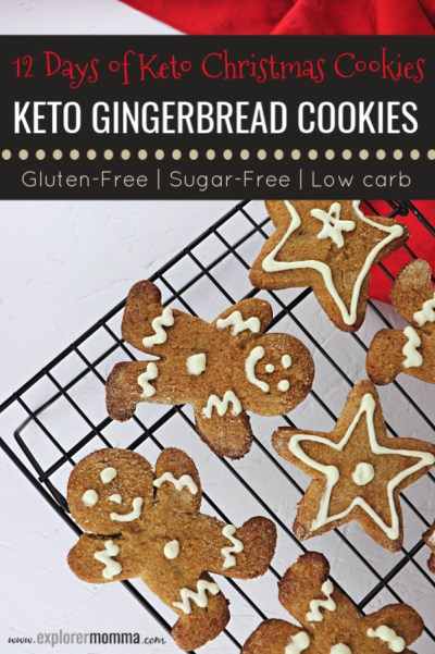 Keto Gingerbread Cookies are perfect for family holiday parties. Low carb cookies, kid-friendly, with a punch of ginger, ready for fun. #ketocookies #lowcarbrecipes