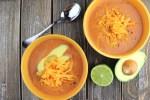 Keto taco soup, overhead view #ketosoups #lowcarbsoup