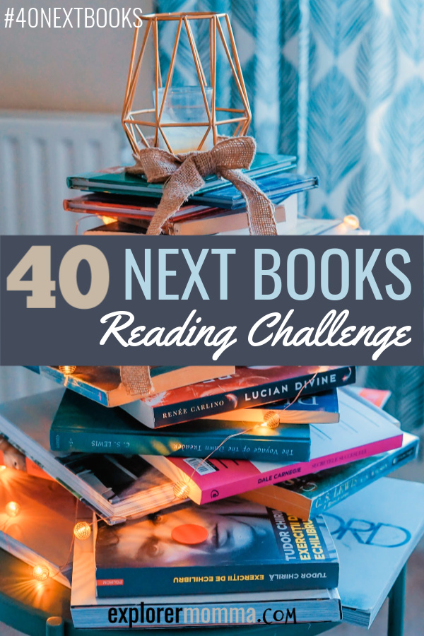 40 next books reading challenge. Booklist for all, join us! #booklist #40nextbooks