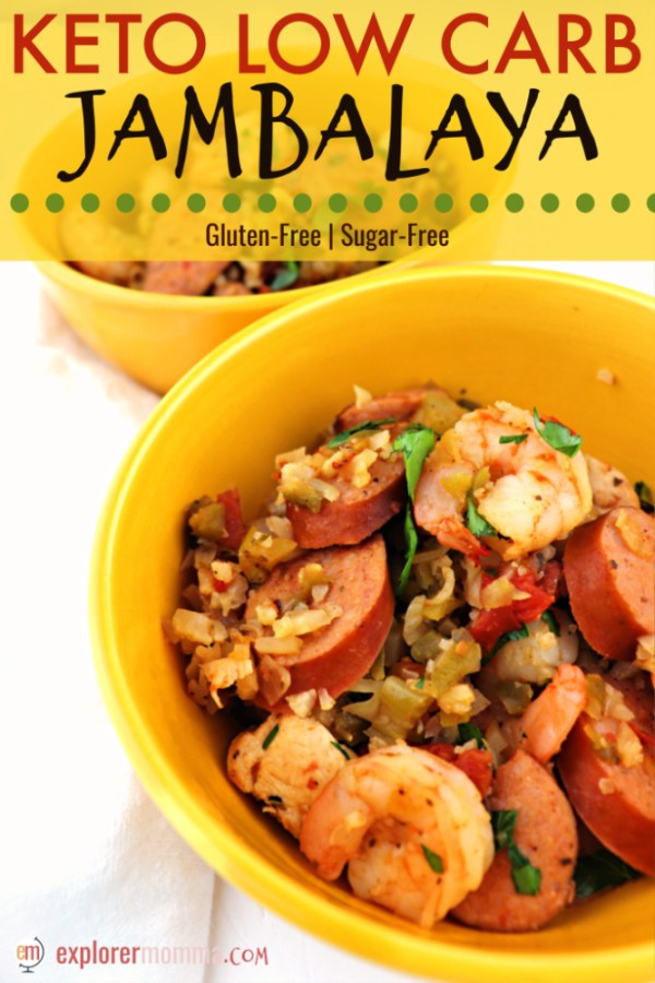 Amazing keto jambalaya is the perfect low carb pleaser for the whole family. Gluten-free spicy goodness, all in one-pot. #ketorecipes #lowcarbdinners