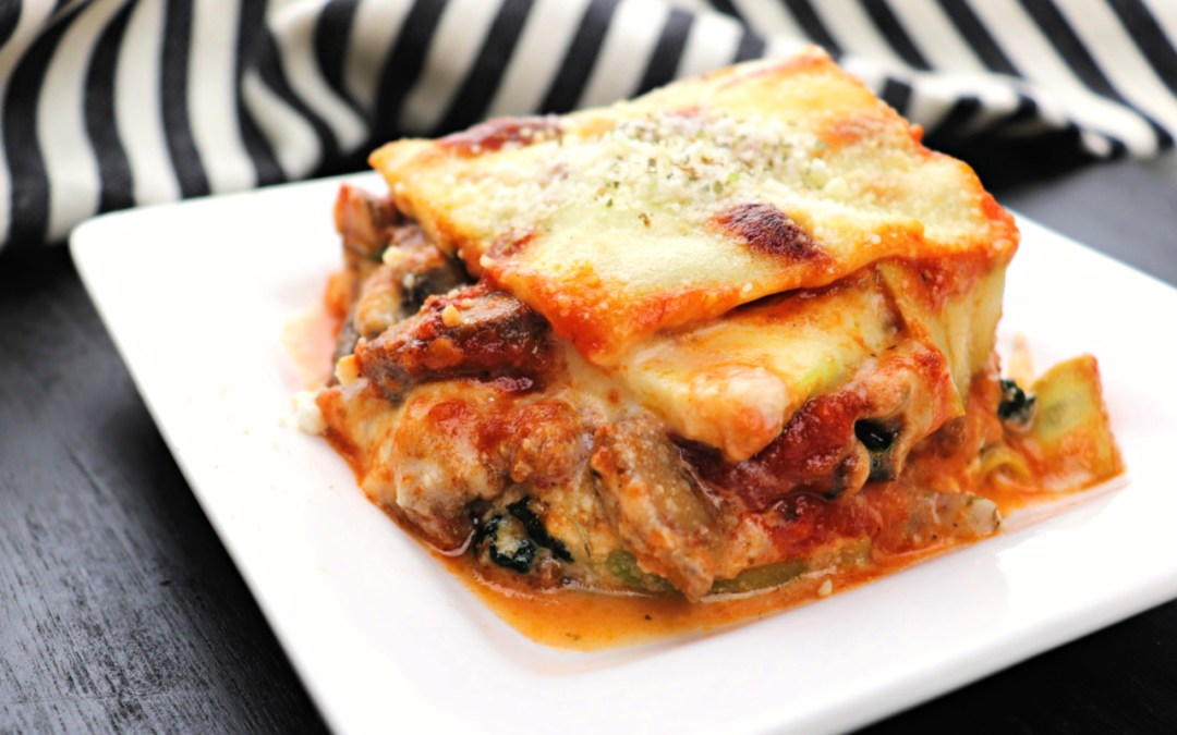 Cheesy Low Carb Keto Zucchini Lasagna