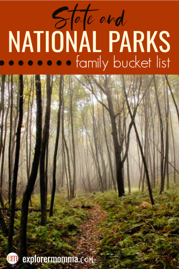 State and National Parks Family Bucket List | Fabulous family adventure destinations like Great Smoky National Park, Watkins Glen State Park, and  the Petrified Forest National Park. #familytravel #usnationalparks