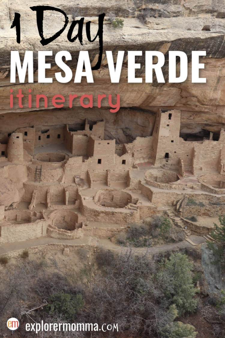 Only have a day in Mesa Verde National Park? This is the perfect family one day Mesa Verde map itinerary with the best places to be sure to see. From Cliff Palace to the Sun Temple, it's a must-see national park. #mesaverde #familytravel #usnationalparks