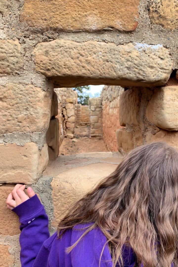 Looking through the Sun Temple window, Mesa Verde #mesaverde #familyadventure