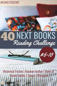 Pondering what books to read next? Get new books categories with the #40nextbooks challenge and see what I'm reading for each. #booklist #bookstoread