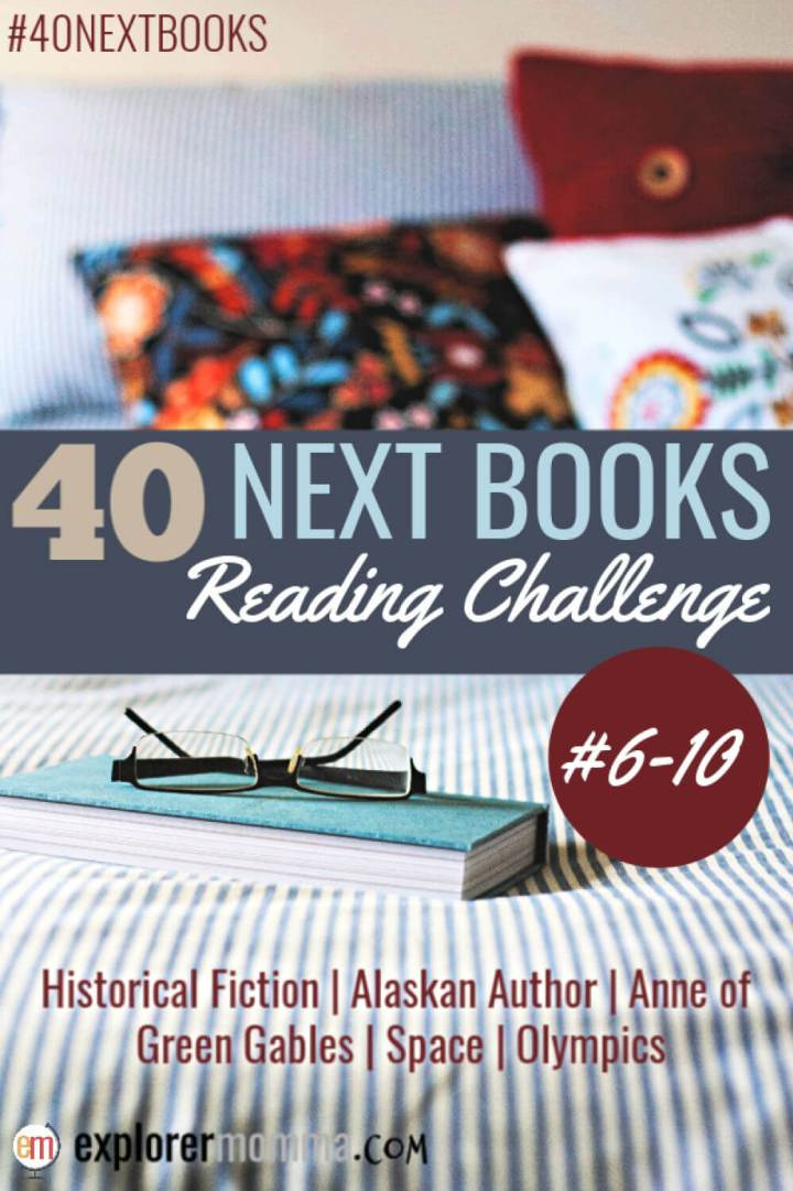 What books to read for the 40 next books reading challenge. Check out what I'm reading for categories 6-10. #readingchallenge #40nextbooks