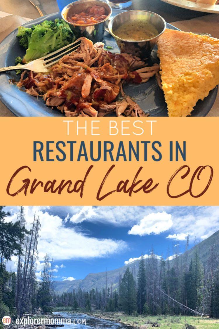 The best family-friendly restaurants in Grand Lake CO. Grand Lake Restaurants you'll love! #grandlakecolorado #grandlake