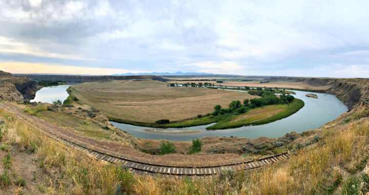 Scenic overlook outside Fort Benton, Montana, Highway 87