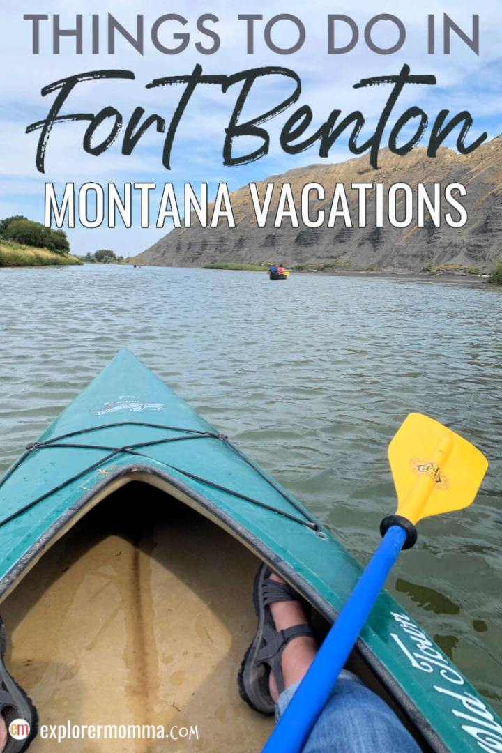 Montana Vacations. Looking for things to do in Fort Benton? Don't miss this historic town filled with fun, history, and friendly locals while in Central Montana! #familytravel #montanatravel #montanamoment #centralmontana