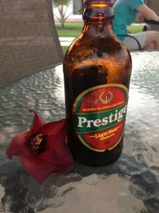 Bottle of Prestige Lager