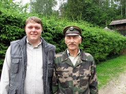 Michal Krzysiak and Anatole the forest man, Bialowieza National Park, Poland