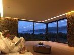 Down in the chill out lounge in the spa