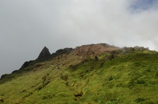 The top of la Soufrière.