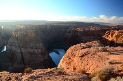 The Horseshoe Bend in Page, AZ.