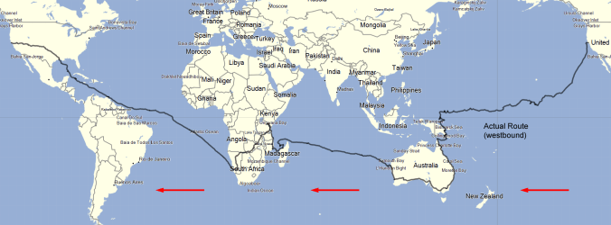 Eruç's circumnavigation route