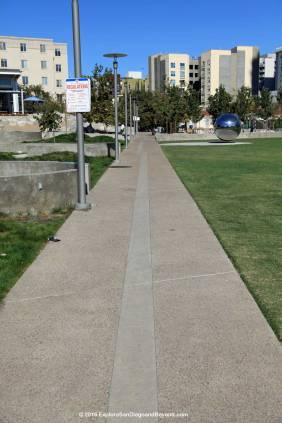 Fault runs along the sidewalk