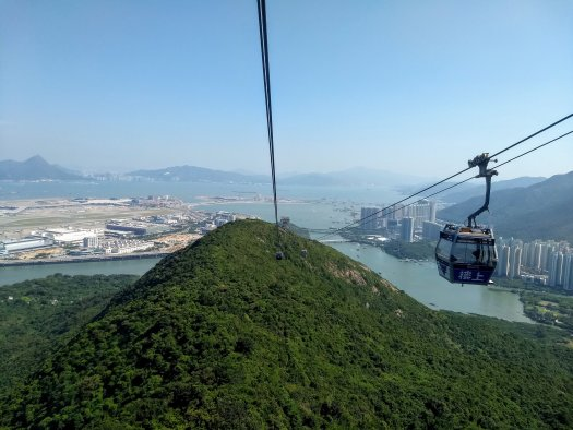 View from the cable car on the way to the Big Buddha in Hong Kong - 10-16-2019