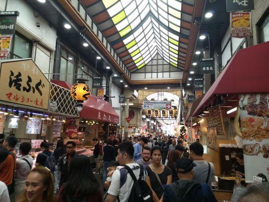 Crowded street market - Osaka