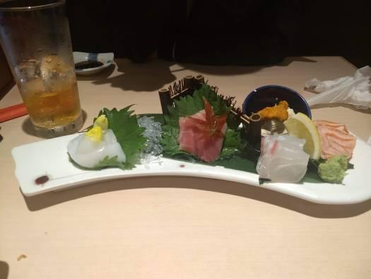 Sushi presentation in Osaka