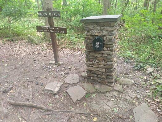 The AT mailbox at the Mason Dixon line