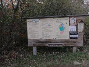 Blackbird Knob Trailhead Sign - 10-9-2020