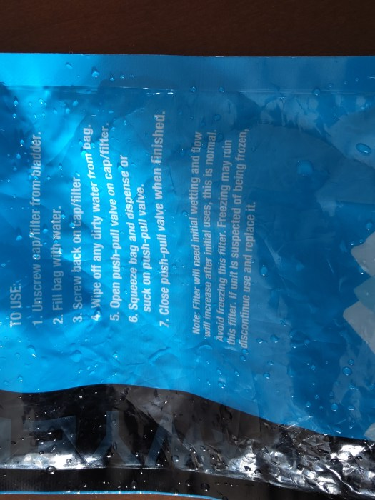 Sawyer Squeeze Pouch cleaning instructions