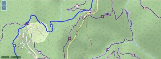 Waymarked Trails - Rose River Falls area standard basemap