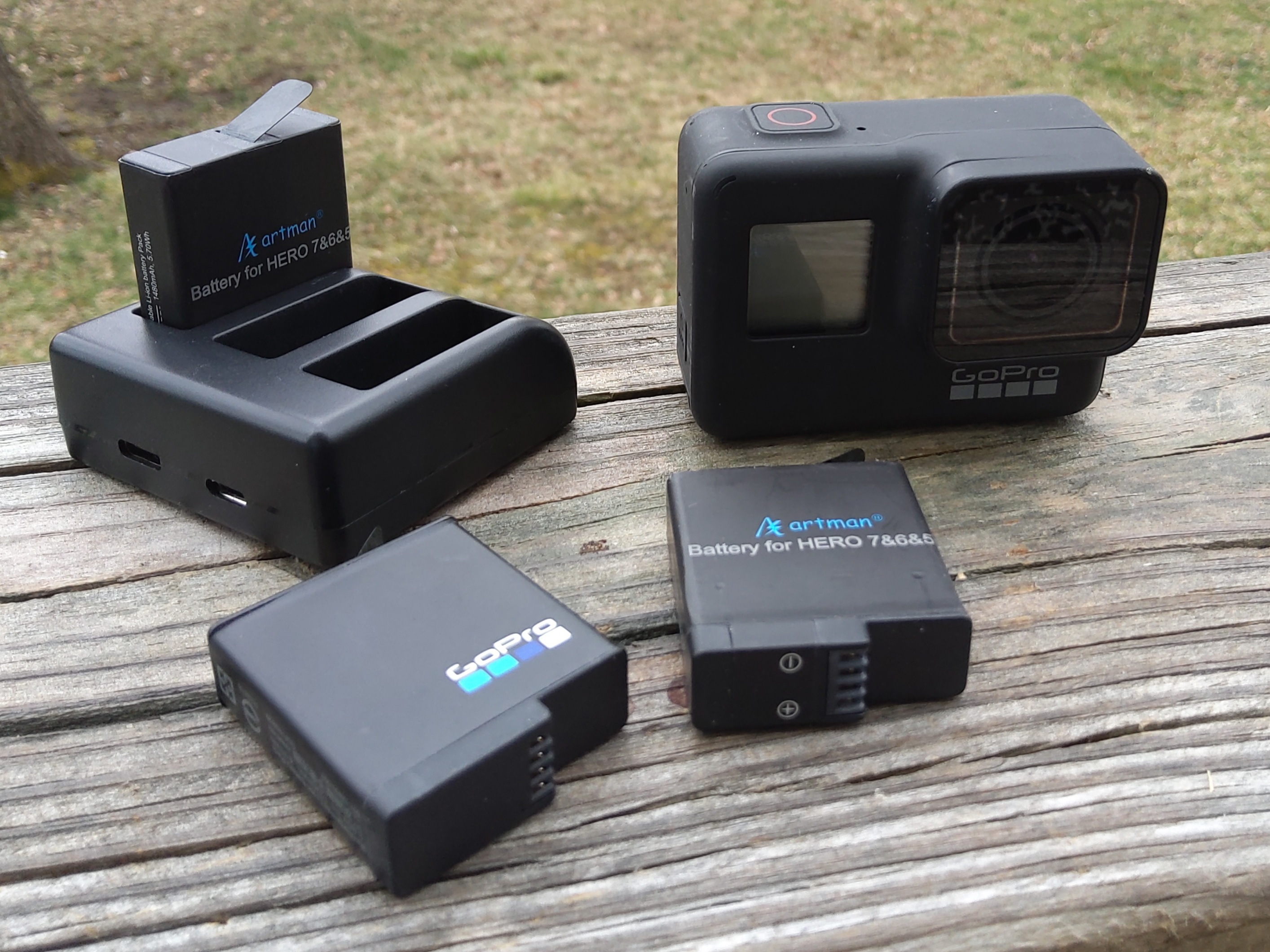 GoPro Hero7 with Artman batteries and charger