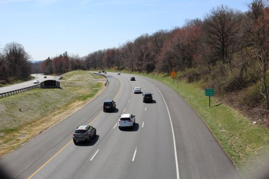 I-70 from AT footbridge - 04-03-2021