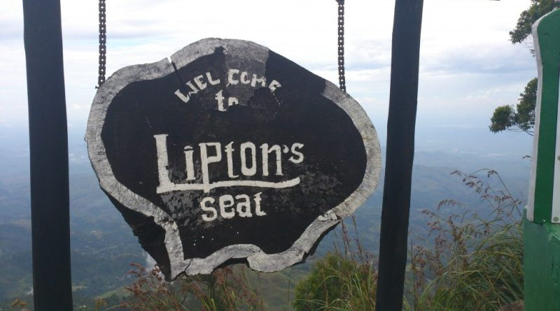 Lipton's Seat Name Board