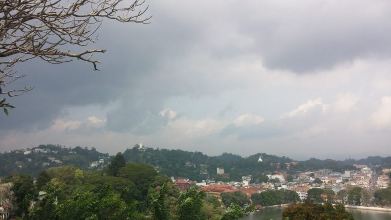 Sight of Bahirawa Kanda Statue from Kandy view point