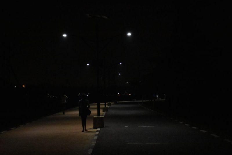 Street lights at park