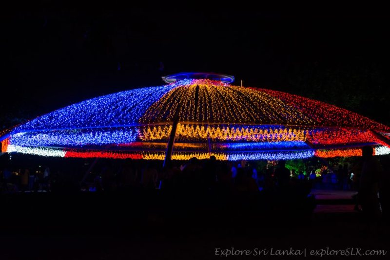 Vesak decorations in Sri Lanka