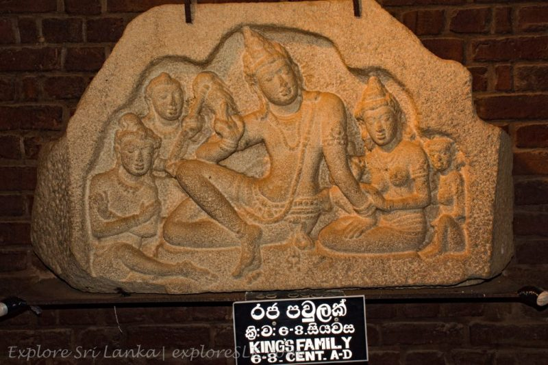 King's family carving