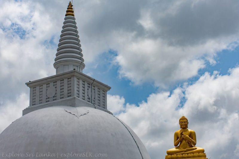 Stupa and the Buddha Statue