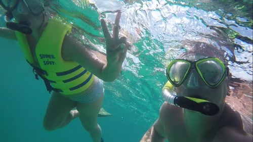 snorkeling in turks and caicos!