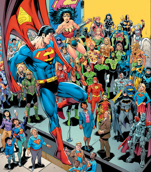 Superman Crowd Shot From Action Comics 1000