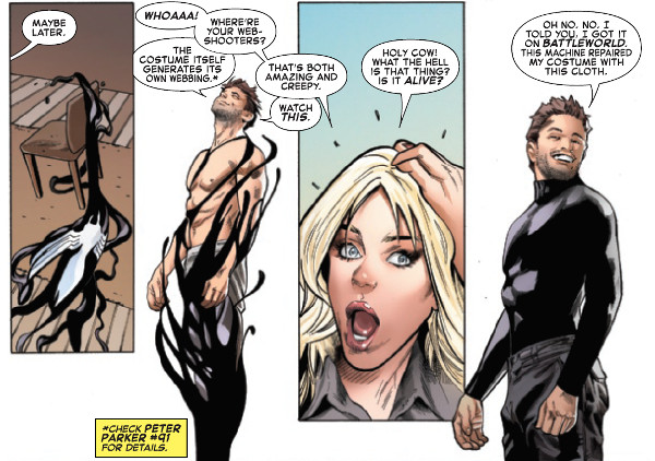Symbiote Spider-Man #1 Felicia and Peter