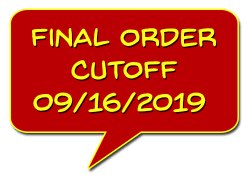 Final Order Cutoff (FOC) 09/16/2019